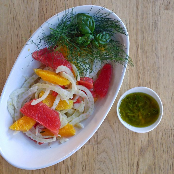 Fennel Citrus Salad with Honey Lime Dressing
