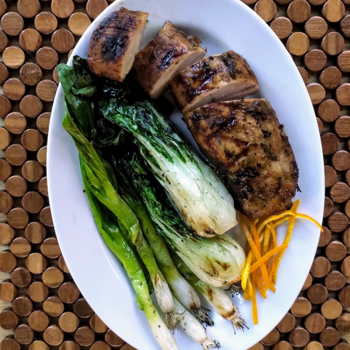 Grilled Orange Ginger Pork Tenderloin